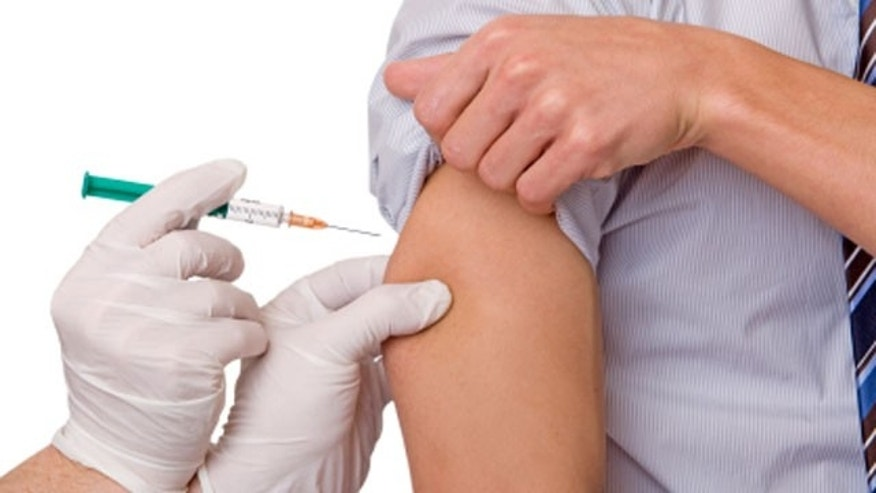 Vaccination protection influenza, injection for the prevention of flu
