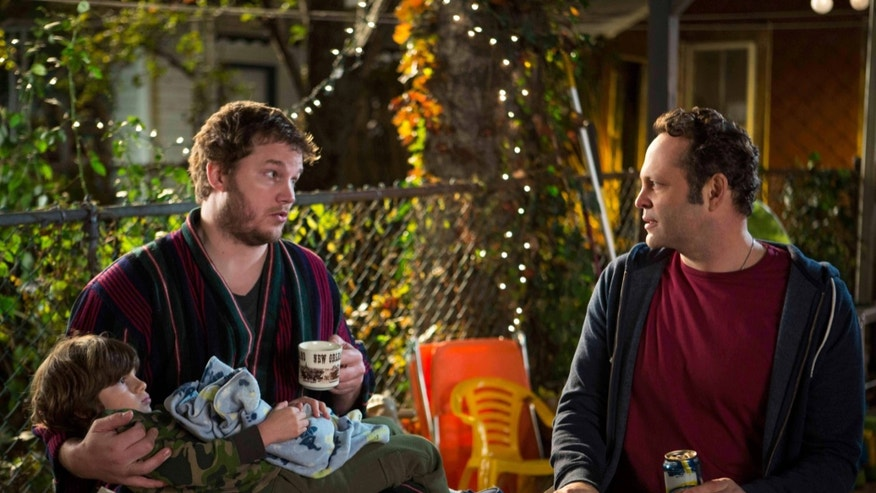 "This image released by Disney DreamWorks II Distribution Co. shows Chris Pratt, left, and Vince Vaughn in a scene from ""Delivery Man"".  (AP Photo/Disney-DreamWorks II Distribution Co., Jessica Miglio)"