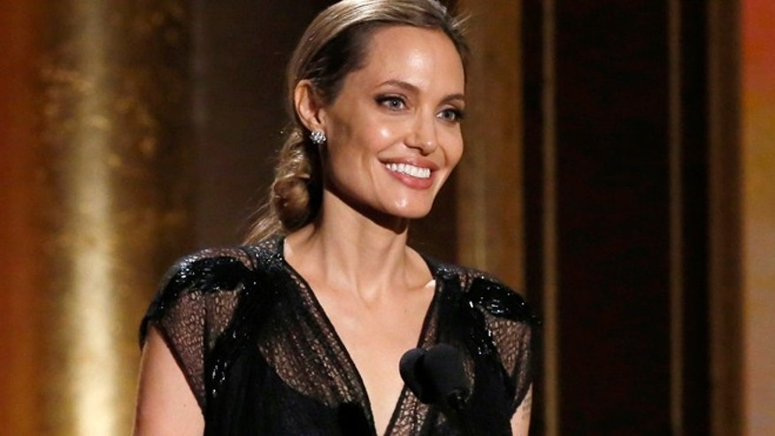 Actress Angelina Jolie accepts the Jean Hersholt Humanitarian Award at the 5th Annual Academy of Motion Picture Arts and Sciences Governors Awards  in Hollywood, California November 16, 2013. (REUTERS/Mario Anzuon)