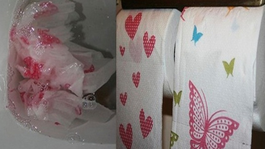 Beware of decorative toilet paper that could hide signs of illness.