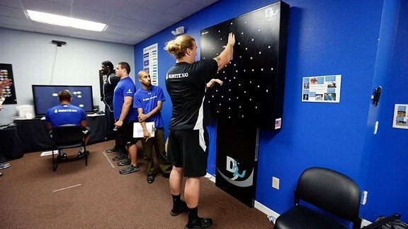 Dynavision D2: New machine helps athletes with concussion rehabilitation
