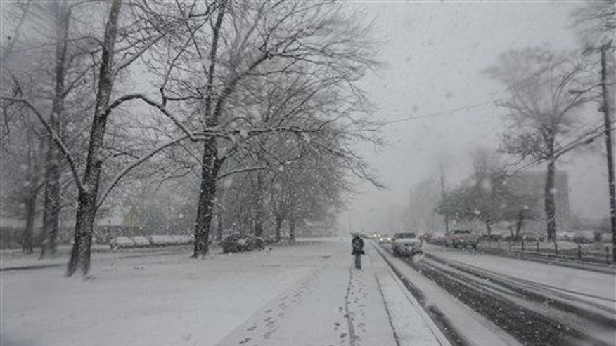 A shot of the snow in Tuscaloosa, Ala. (this story happened in Birmingham).