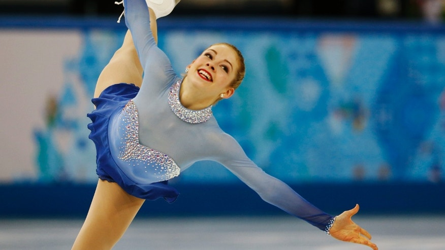 Gracie Gold of the United States competes during the Team Ladies Free Skating Program at the Sochi 2014 Winter Olympics, February 9, 2014.            (REUTERS/Alexander Demianchuk)