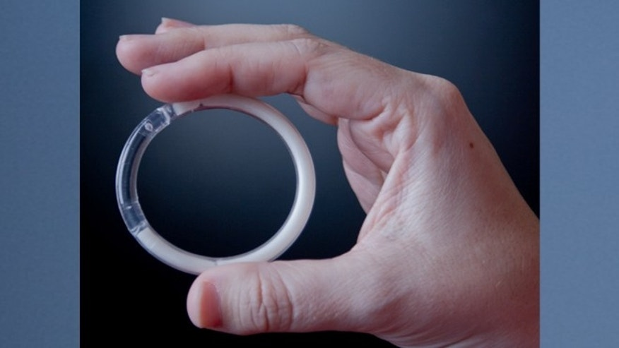 Researchers at Northwestern University developed this two-inch intravaginal ring which contains both contraceptive medication and an antiretroviral drug that can protect against HIV. (Image courtesy of Northwestern University)