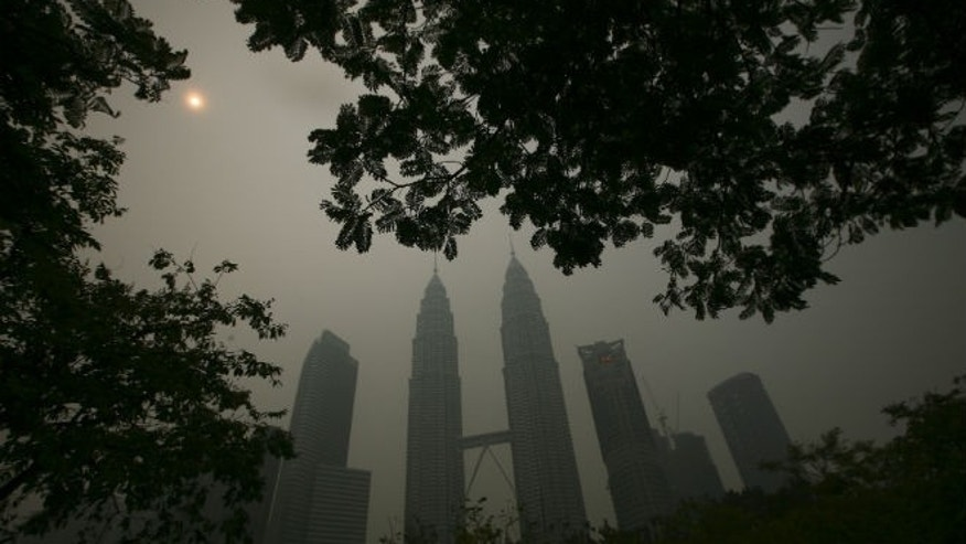 A view of the Kuala Lumpur city centre covered by haze. (REUTERS/Samsul Said)