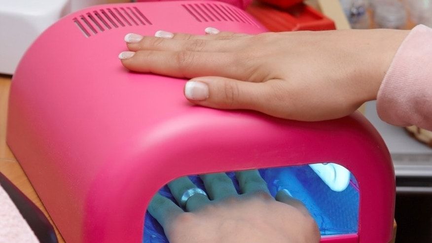 Pink uv lamp for nails