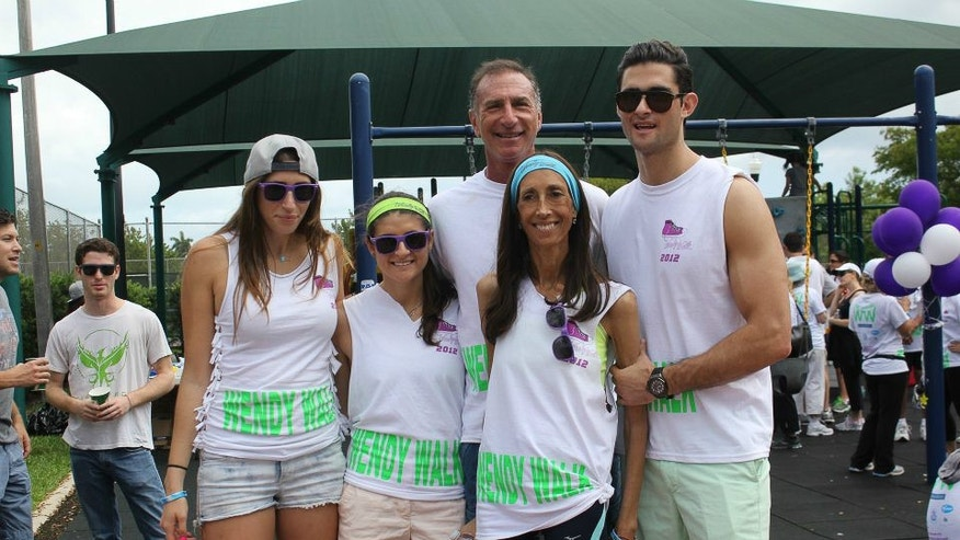 The Landes family participating in the Wendy Walk. (Image courtesy of WendyWalk.org)
