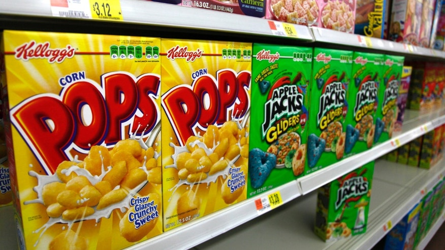 Boxes of cereal are displayed on a store shelf. (REUTERS/Rick Wilking)