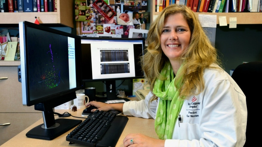 Dr. Kjersti Aagaard in her laboratory at the Baylor College of Medicine in Houston. Aagaard's new research shows a small but diverse community of bacteria lives in the placentas of healthy pregnant women, and hints that the microbes may play a role in premature birth.