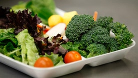 Salad served to students at Marston Middle School in San Diego, California, March 7, 2011. (REUTERS/Mike Blake)
