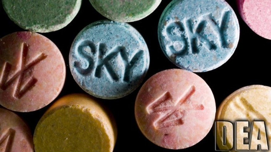 Ecstasy pills, which contain MDMA as their main chemical, are pictured in this undated handout photo courtesy of the United States Drug Enforcement Administration (DEA).