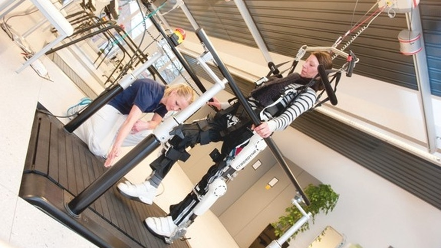 "The ""Hybrid Assistive Limb"" (HAL) exosuit can help paralyzed patients regain some mobility."