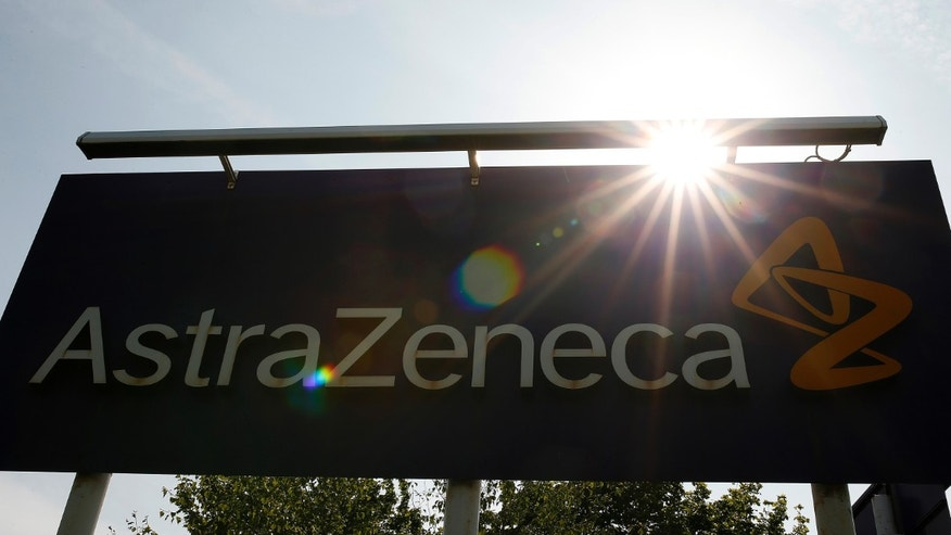 A sign is seen at an AstraZeneca site in Macclesfield, central England May 19, 2014.