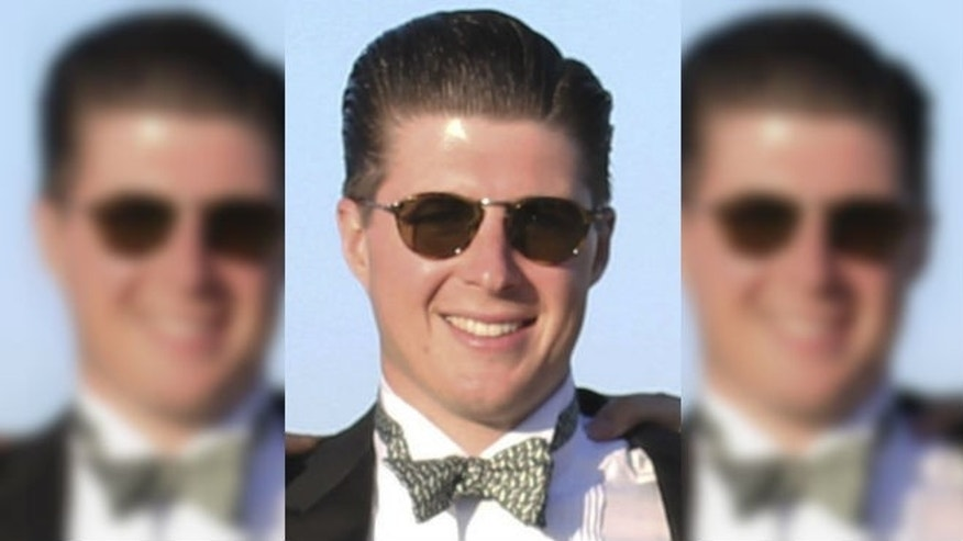 "This undated photo provided by his family shows Corey Griffin, who died after diving off a building into the harbor in Nantucket, Mass., Saturday, Aug. 16, 2014. Griffin recently raised $150,000 for the charity benefiting Peter Frates, a former college classmate who has amyotrophic lateral sclerosis, or ALS. Frates' family and friends launched the ""ice-bucket challenge"" to raise awareness and money for ALS research after he was diagnosed with the neurodegenerative disease in 2012. (AP Photo/Griffin Family)"