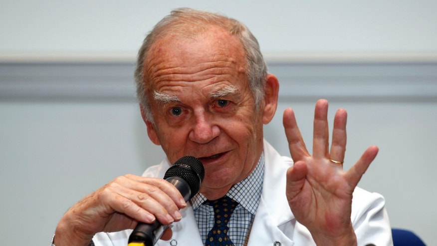 Dec. 21, 2013: Alain Carpentier, surgeon and Carmat co-founder, attends a news conference at the Georges Pompidou European Hospital in Paris.