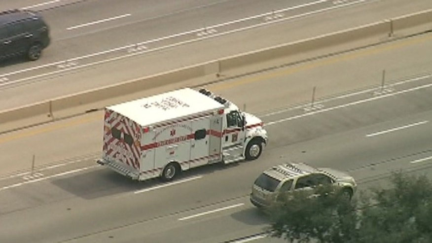Frisco firefighters transport a possible second Ebola patient to a Dallas hospital. The patient, who was exhibiting symptoms of the disease told health care workers at Care Now clinic he had contact with the family and apartment where Thomas Eric Duncan was staying before being put in isolation at Texas Health Presbyterian Hospital where he he later died.