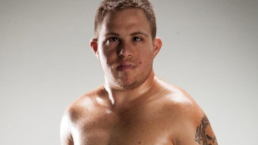 This undated photo shows Garrett Holeve, who is training for his first sanctioned MMA fight.