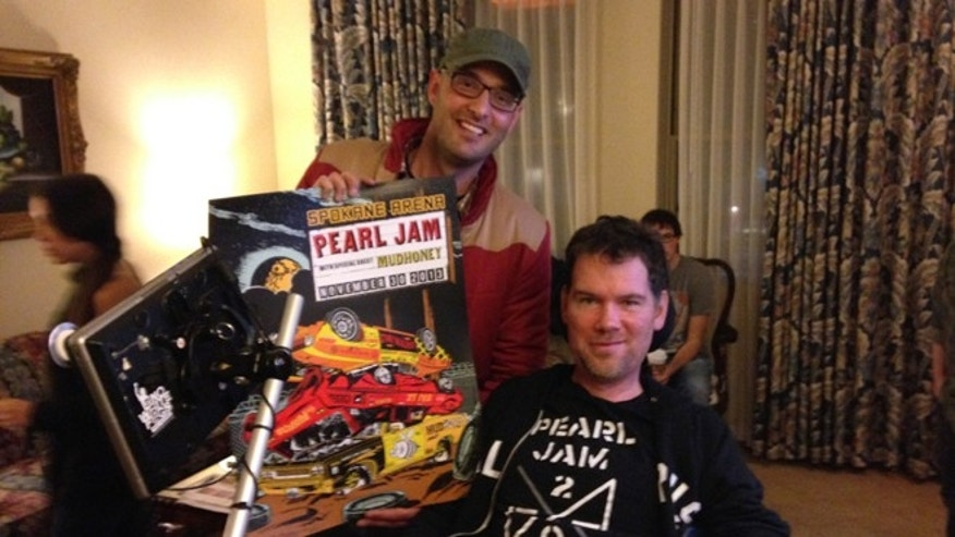 Davis with former NFL player Steve Gleason, image courtesy Ian Davis