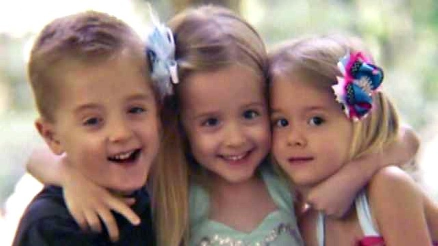This undated photo shows 4-year-old Eli Waller and his sisters.