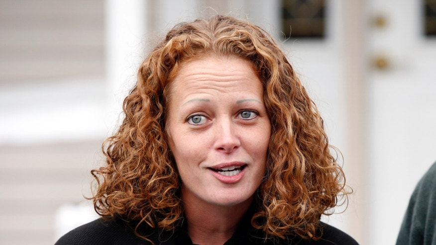 Oct. 31, 2014: Nurse Kaci Hickox speaks to reporters outside their home.