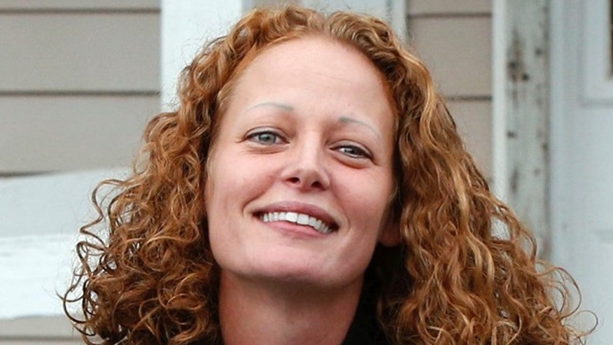 October 31, 2014: Kaci Hickox leaves her house to speak to reporters in Fort Kent, Maine. (AP Photo/Robert F. Bukaty)
