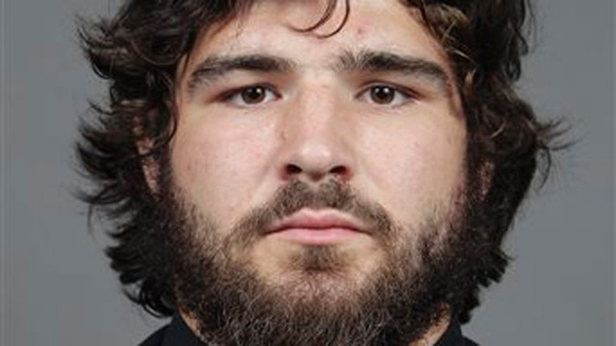 This photo shows college football player Kosta Karageorge in Columbus, Ohio.