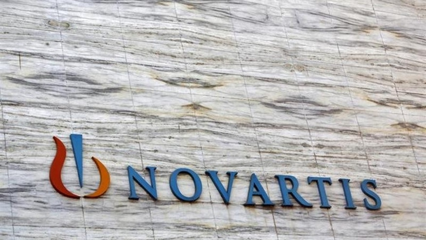 A Novartis logo is pictured on its headquarters building in Mumbai April 1, 2013. REUTERS/Vivek Prakash