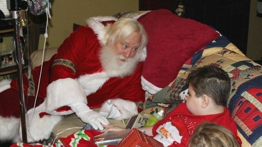 Dalton Robinson, 13, who is in need of a rare transplant, got a special visit from Santa Claus.