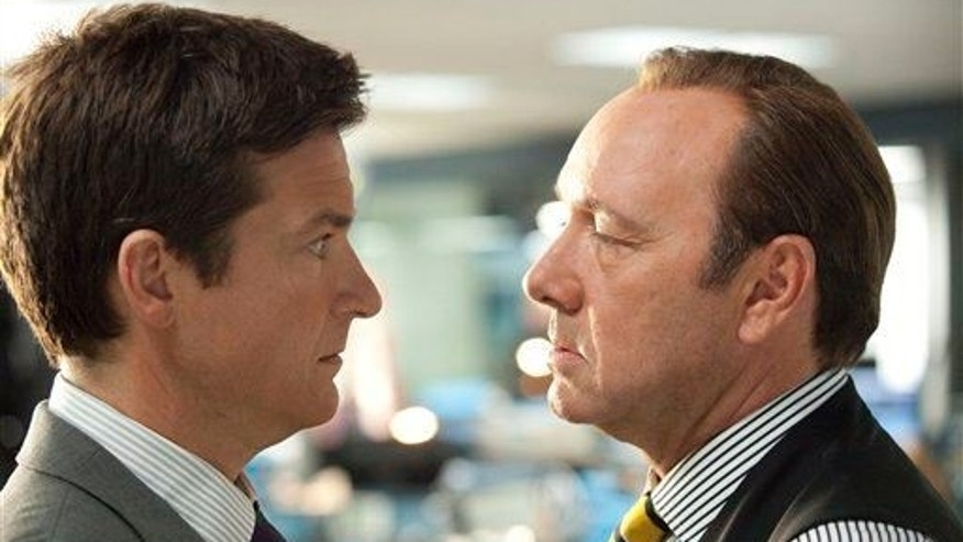 "Jason Bateman and Kevin Spacey in a scene from ""Horrible Bosses."""