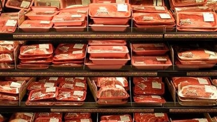 March 29, 2006: In this file photo, a wide variety of cuts of meat are displayed at the meat section of Cub Foods grocery store in a Burnsville, Minn.