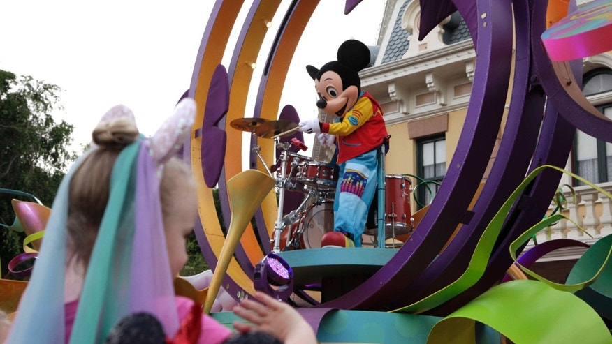 Jan. 22, 2015: Mickey Mouse performing during a parade at Disneyland in Anaheim, Calif.