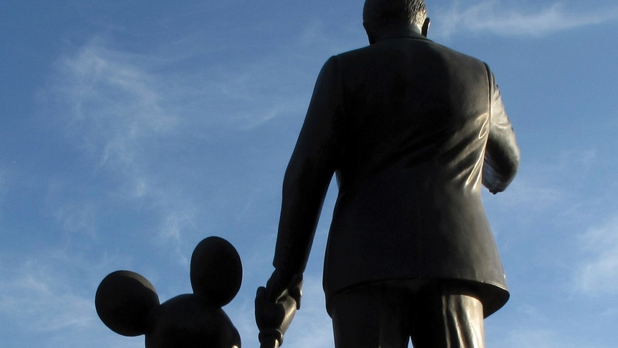 March 11, 2011: Statues of Walt Disney and Mickey Mouse are seen at Disneyland in Anaheim, California.