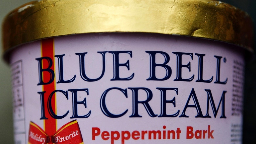 March 13, 2015: This photo shows a container of Blue Bell ice cream.