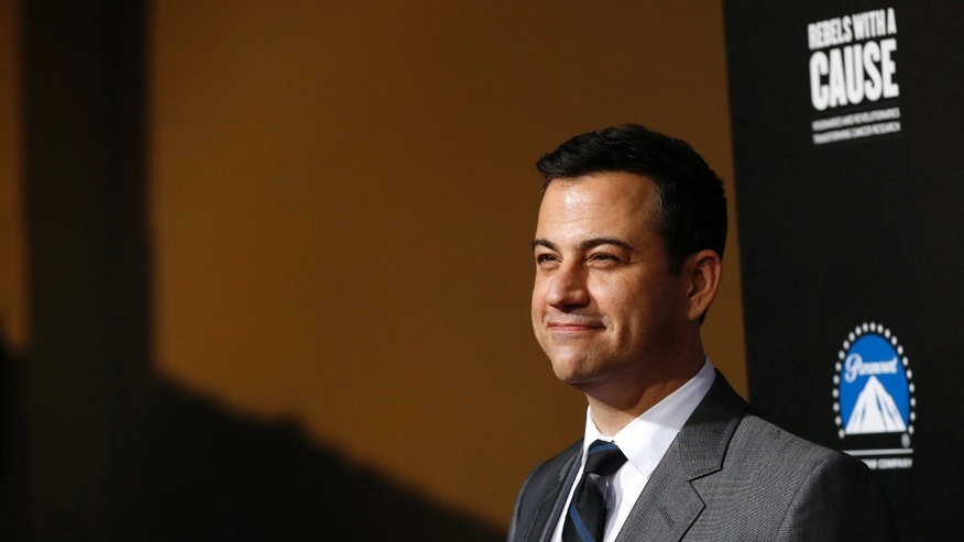 "Television host Jimmy Kimmel poses at the second annual ""Rebels With a Cause"" gala at Paramount Pictures Studios in Los Angeles, California March 20, 2014. REUTERS/Mario Anzuoni"
