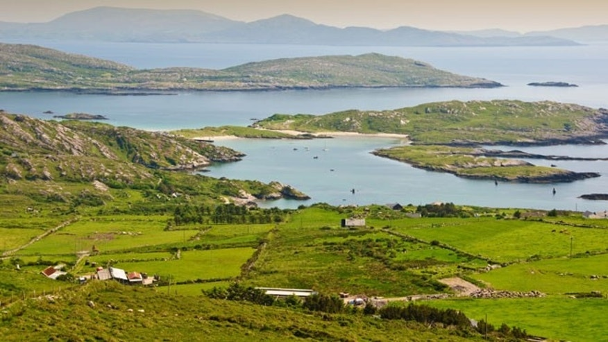 beautiful scenic rural landscape from ring kerry ireland