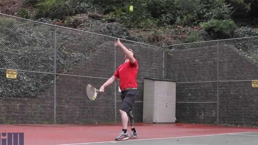 Robert Spotswood returns to tennis after being fitted with an Infinite Socket