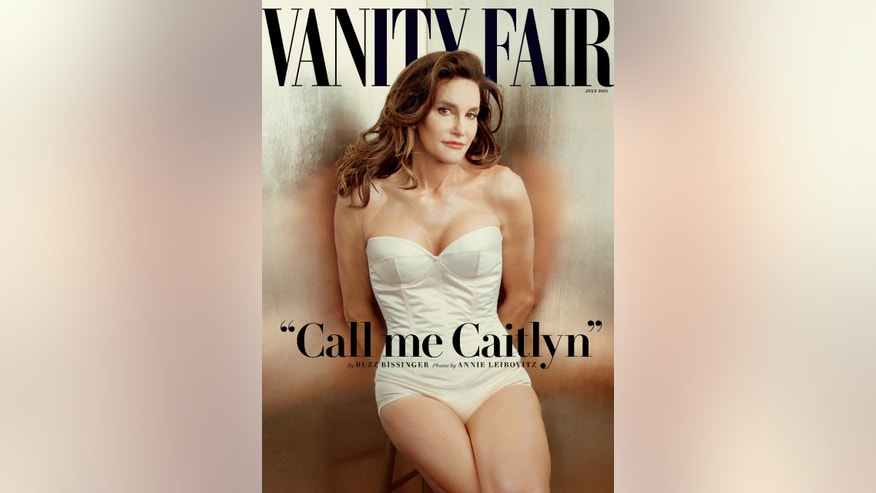 """This photo taken by Annie Leibovitz exclusively for """"Vanity Fair"""" shows the cover of the magazine's July 2015 issue featuring Bruce Jenner debuting as a transgender woman named Caitlyn Jenner.  (Annie Leibovitz/Vanity Fair via AP)"""