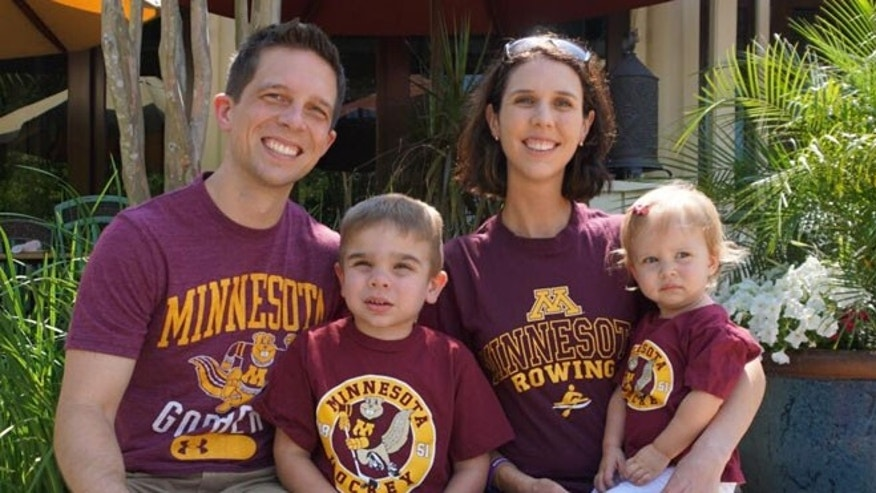 The Byers family has enrolled Will in an enzyme-replacement trial being conducted at the University of Minnesota. From left to right: Tim Byers, Will Byers, Valerie Byers and Samantha Byers