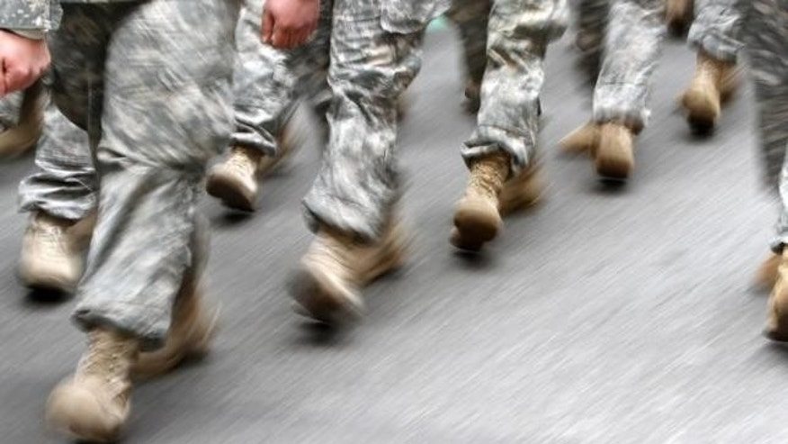 March 16, 2013: U.S. army soldiers are seen marching in the St. Patrick's Day Parade in New York