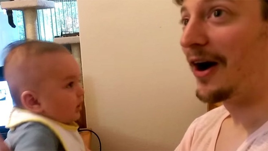 "Baby ""Ben"" shocks parents with ""I love you"" response."