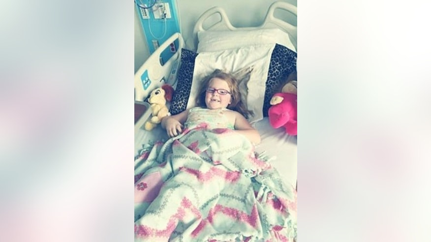 Katie Joyce, pictured here, is suffering from an inoperable brain tumor.