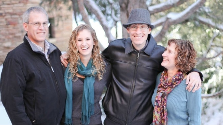 The Weber family: dad Larry Weber, sister Cassie Thornton, Ian, and mom Jayne Dixon. (image courtesy subject)