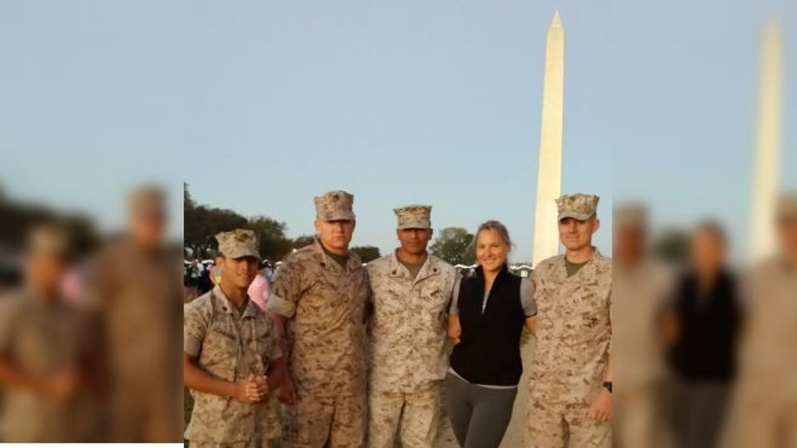 Kathy at the 2014 Marines Corps Marathon (image courtesy subject)