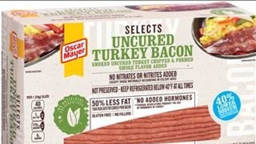 "Oscar Mayer's ""Selects - Uncured Turkey Bacon,"" one of the items affected by the recall."