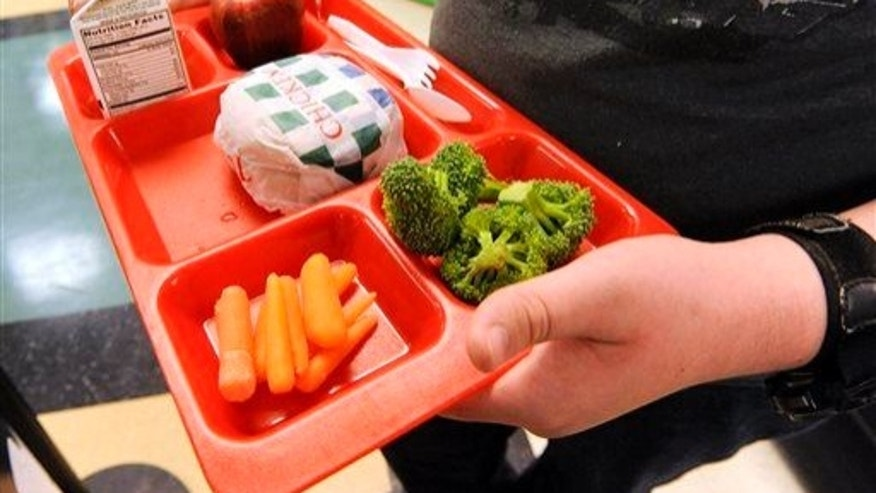 A student grabs lunch.