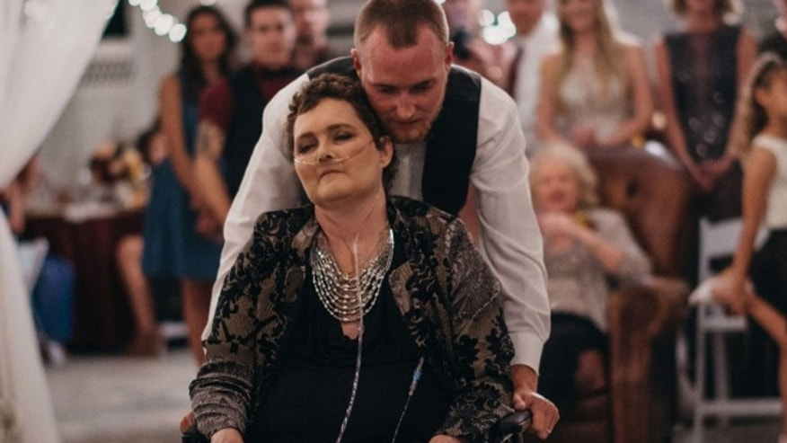Tyler Crosby and his mother, Dot, share a dance at his wedding.