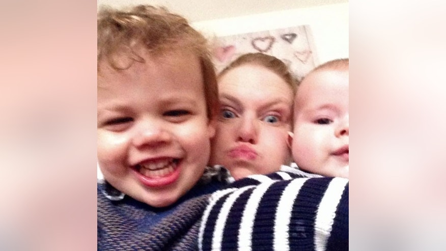 Heidi Loughlin, 33, pictured with her sons, Noah, 2 (left), and Tait, 15 weeks (right).