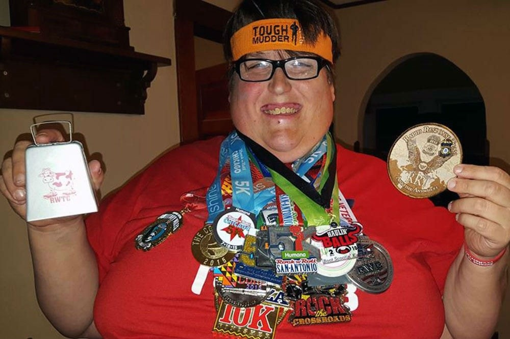 538-pound man keeps his 2015 race resolution