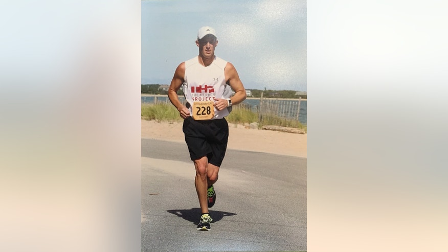 Longo has vowed to run 22 marathons after the death of his unborn daughter. (image courtesy Longo)