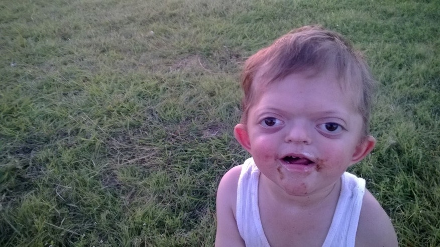 AliceAnn Meyer posted this picture of her disabled son on her blog in 2015. A year later, she is hitting back at Internet trolls who made it into a meme.